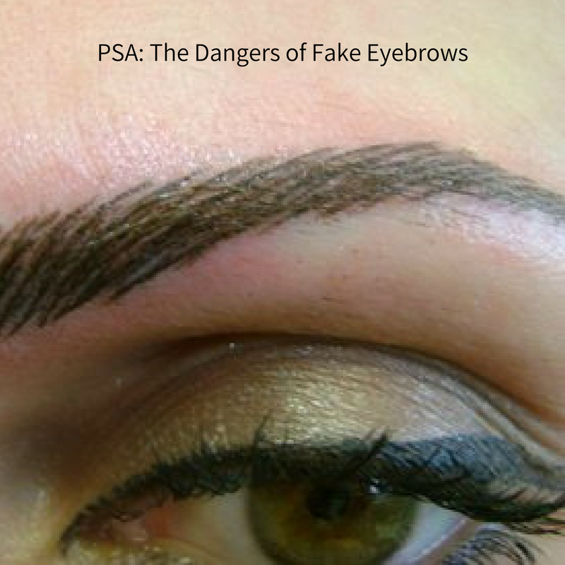 fake eyebrows - ees blog